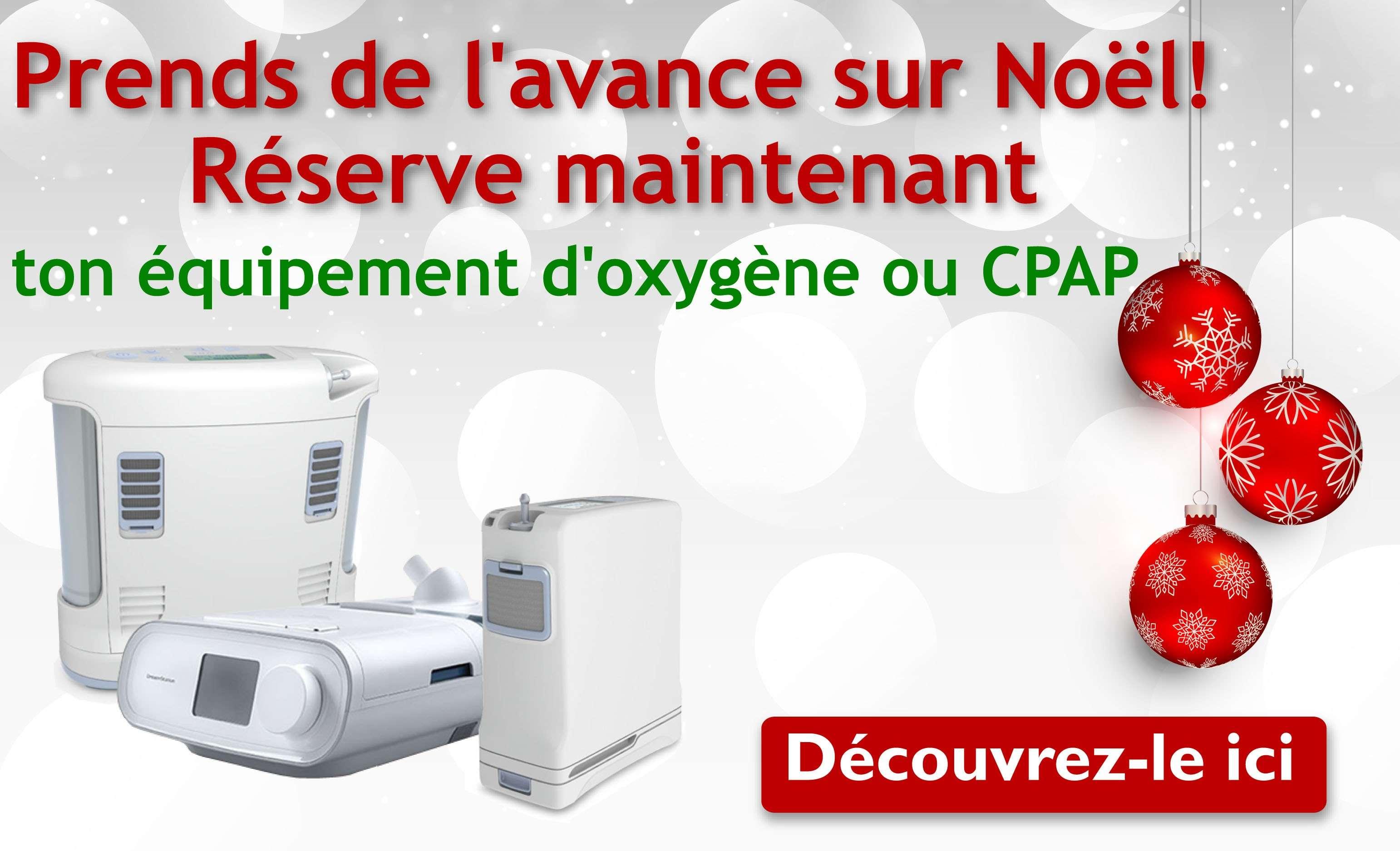 Réservez ton èquipement d'oxygène ou CPAP