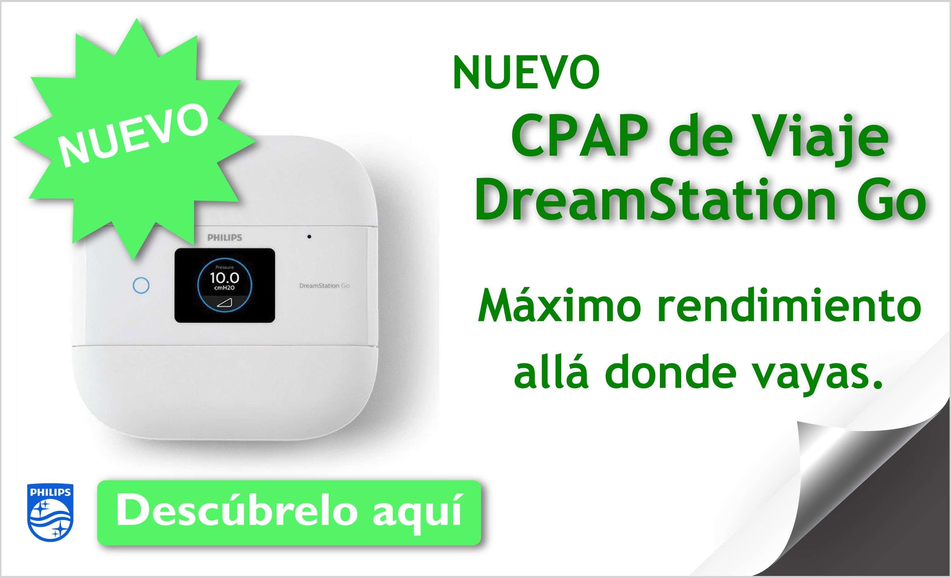 Nuevo CPAP de VIAJE DreamStation Go